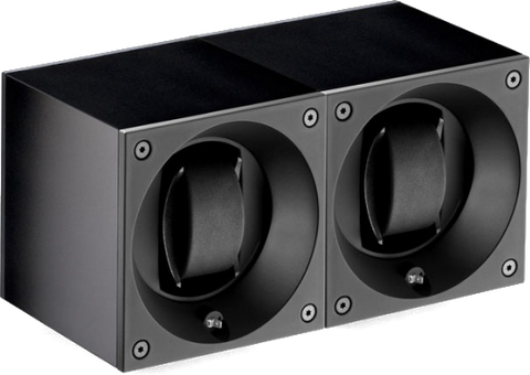Swiss Kubik SK02.AE001 2-Unit Watch Winder in Black Anodized Aluminum