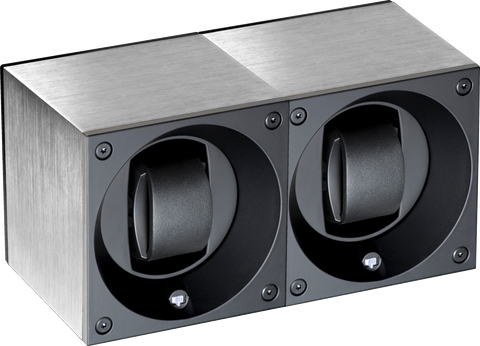 Swiss Kubik SK02.AE000 2-Unit Watch Winder in Brushed Anodized Aluminum