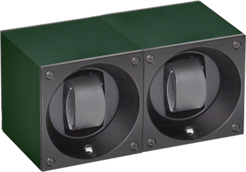 Swiss Kubik SK02.AE014 2-Unit Watch Winder in Dark Green Anodized Aluminum