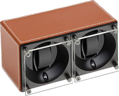Swiss Kubik SK02.CV002 - WP 2-Unit Watch Winder In Natural Leather