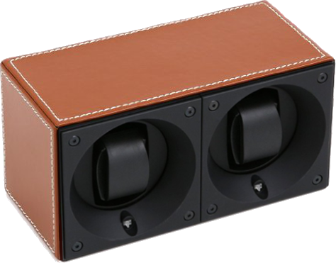 Swiss Kubik SK02.CV002 Leather 2 Unit Watch Winder In Natural