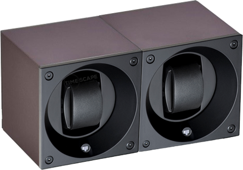 Swiss Kubik SK02.AE016 2-Unit Watch Winder in Anthracite Anodized Aluminum