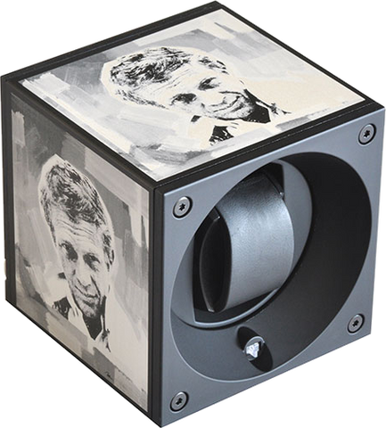 Swiss Kubik SK01-AE001-ART7 Single Watch Winder with Steve McQueen Pop Art