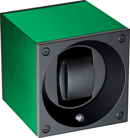 Swiss Kubik SK01-AE007 Single Watch Winder in Green Anodized Aluminum