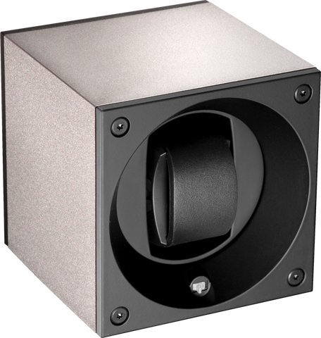 Swiss Kubik SK01.AE002 Single Watch Winder in Silver Anodized Aluminum