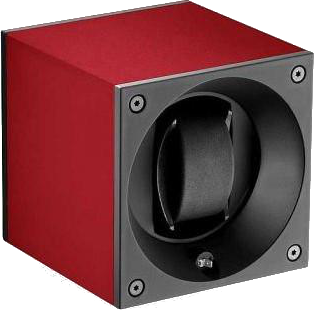 Swiss Kubik SK01.AE005 Single Watch Winder in Red Anodized Aluminum