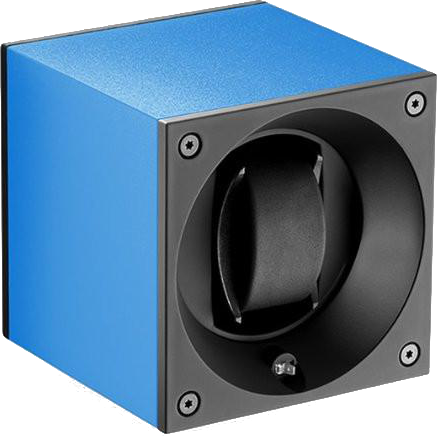 Swiss Kubik SK01.AE008 Single Watch Winder in Blue Sapphire Anodized Aluminum