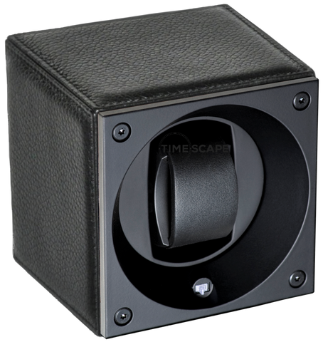 Swiss Kubik SK01.CV0012 Single Watch Winder in Black Grain Leather