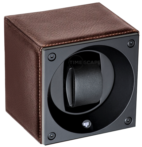 Swiss Kubik SK01.CV0013 Single Watch Winder in Brown Grain Leather