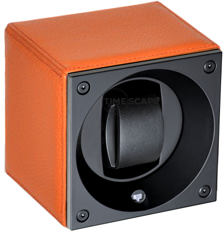 Swiss Kubik SK01.CV0014 Single Watch Winder in Orange Grain Leather