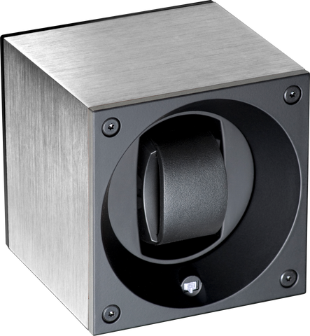 Swiss Kubik SK01.AE000 Single Watch Winder in Brushed Anodized Aluminum