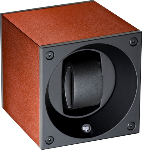 Swiss Kubik SK01.AE003 Single Watch Winder in Brown Anodized Aluminum