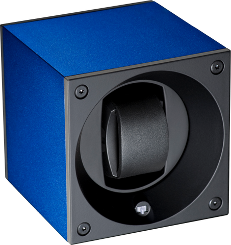 Swiss Kubik SK01-AE004 Single Watch Winder in Navy Blue Anodized Aluminum