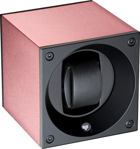 Swiss Kubik SK01.AE009 Single Watch Winder in Pink Anodized Aluminum