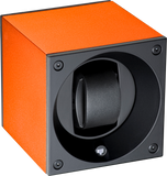 Swiss Kubik SK01-AE010 Single Watch Winder in Orange Anodized Aluminum