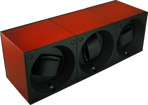 Swiss Kubik SK03.AE005 3-Unit Watch Winder in Red Anodized Aluminum