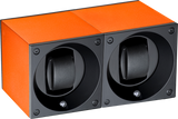 Swiss Kubik SK02.AE010 2-Unit Watch Winder in Orange Anodized Aluminum