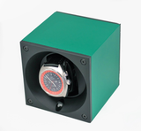 Swiss Kubik SK01.AE012 Single Watch Winder in Emerald Anodized Aluminum