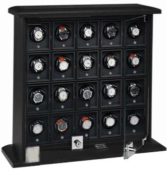 Underwood (London) - 20-Unit Classic Watch Winder in Black Leather