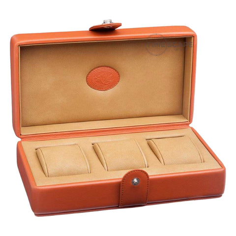Underwood (London) - 3-Unit Watch Storage Case in Tan Leather