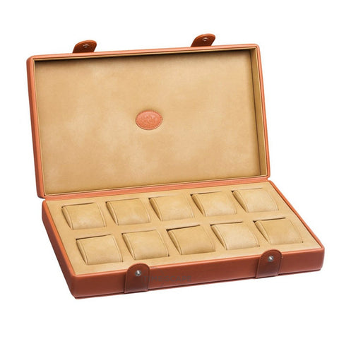 Underwood (London) - 10-Unit Watch Storage Case in Tan Leather