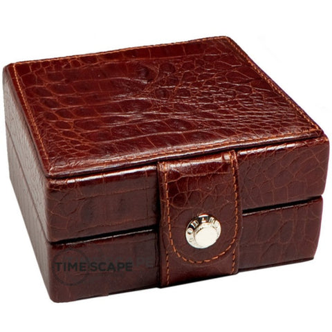 Underwood (London) - Single Watch Storage Case in Brown Croco