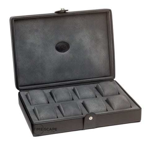 Underwood (London) - 8-Unit Watch Storage Case in Black Leather