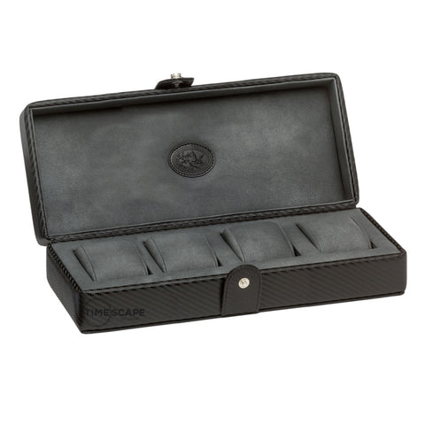 Underwood (London) - 4-Unit Watch Storage Case in Carbon Fiber