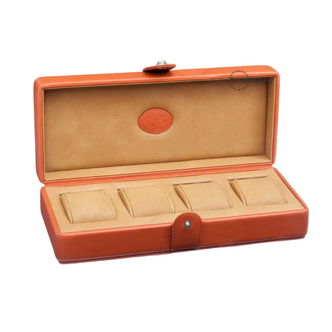 Underwood (London) - 4-Unit Watch Storage Case in Tan Leather