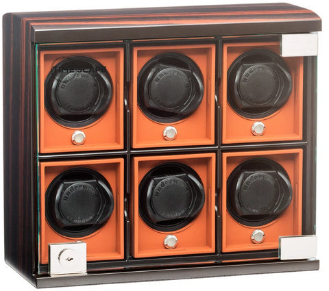 Underwood (London) - 6-Unit Classic Watch Winder in Macassar Wood