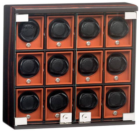 Underwood (London) - 12-Unit Classic Watch Winder in Macassar Wood