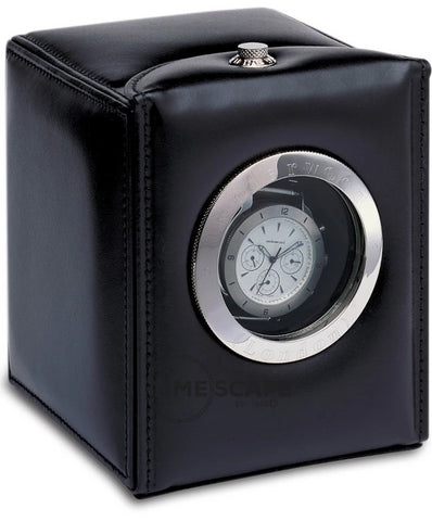 Underwood (London) - Single Classic Porthole Watch Winder in Black Leather