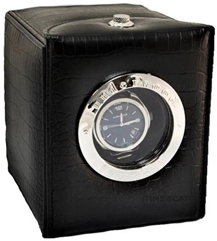 Underwood (London) - Single Classic Hublot Watch Winder in Black Croco