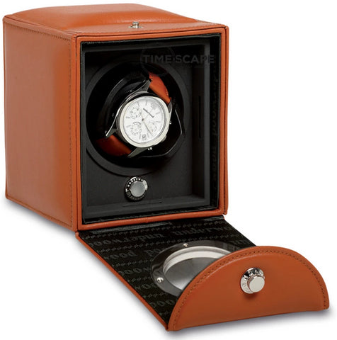 Underwood (London) - Single Classic Porthole Watch Winder in Tan Leather