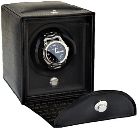 Underwood (London) - Single Classic Watch Winder in Black Croco