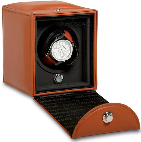 Underwood - Single Classic Watch Winder in Tan Leather