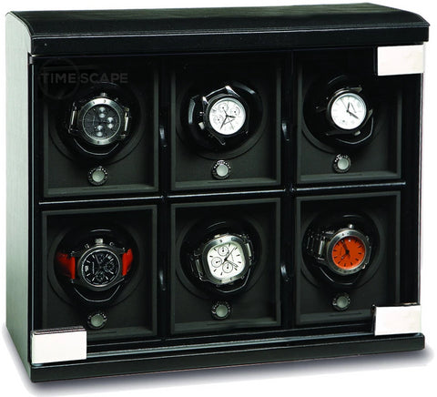 Underwood (London) - 6-Unit Classic Watch Winder in Black Leather