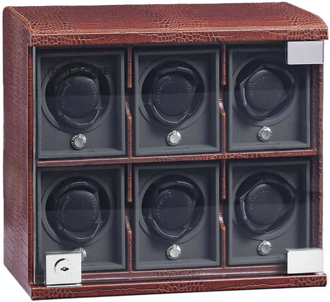 Underwood (London) - 6-Unit Classic Watch Winder in Brown Croco