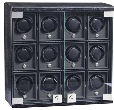 Underwood (London) - 12-Unit Classic Watch Winder in Black Croco