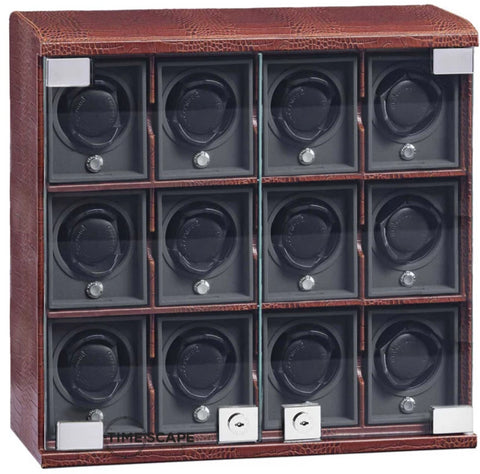 Underwood (London) - 12-Unit Classic Watch Winder in Brown Croco