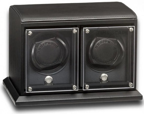 Underwood (London) - 2-Unit EVO Watch Winder in Black Leather