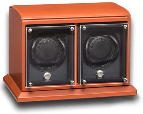 Underwood (London) - 2-Unit EVO Watch Winder in Tan Leather