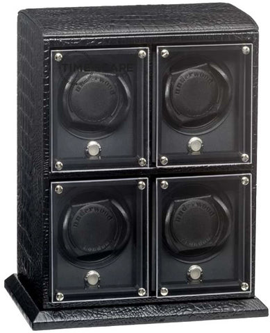 Underwood - (London) 4-Unit EVO Watch Winder in Black Croco
