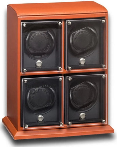 Underwood (London) - 4-Unit EVO Watch Winder in Tan Leather