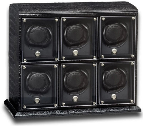Underwood (London) - 6-Unit EVO Watch Winder in Black Croco