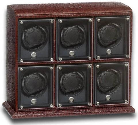 Underwood - 6-Unit EVO Watch Winder in Brown Croco