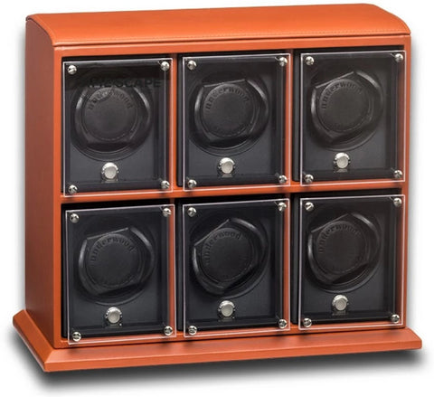 Underwood (London) - 6-Unit EVO Watch Winder in Tan Leather