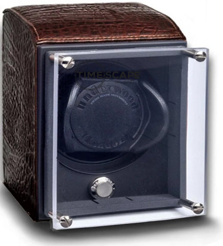 Underwood - Single EVO Watch Winder in Brown Croco