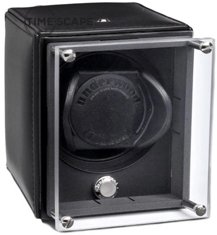 Underwood - Single EVO Watch Winder in Black Leather
