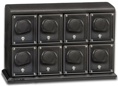 Underwood (London) - 8-Unit EVO Watch Winder in Black Leather